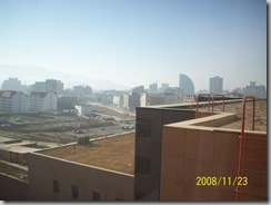 View from my room at the Chinggis Khaan