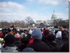 Watching the Inauguration Ceremony from the Mall