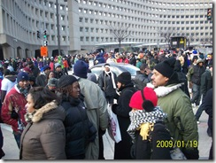 Crowd at HUD leaving the Inauguration